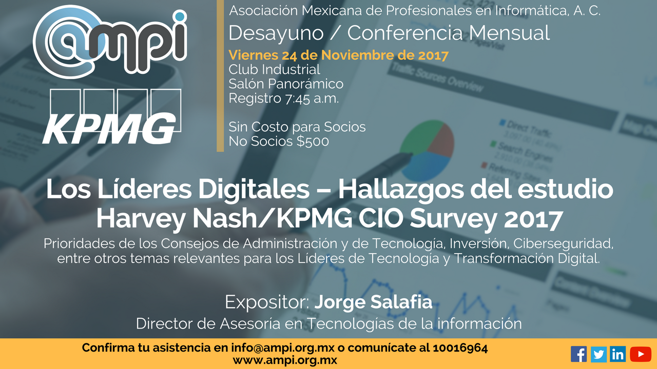 Hallazgos del estudio Harvey Nash/KPMG CIO Survey 2017. Noviembre 2 logo. 1  ...